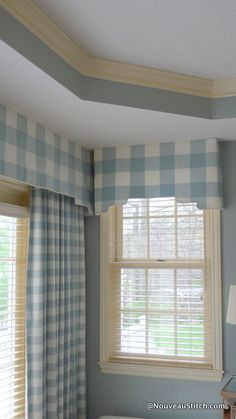 buffalo check pelmet window treatments - Google Search