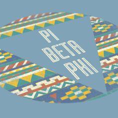 Pi Beta Phi - Pattern Design - Pi Phi - Sorority shirts - Check out b-unlimited.com! Phi Sigma Pi, Delta Chi, Pi Beta Phi, Kappa Clothing, Greek Clothing, Graphic Tees, Graphic Design, Sorority Shirts, Boom Boom