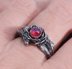 Draken adem Ring Dragons adem fijne zilveren Ring door DesignsBloom