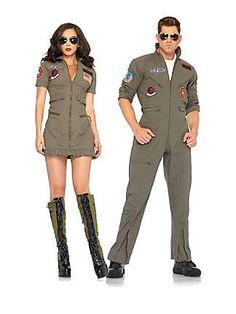 Sexy Top Gun Flight Dress Adult Costume - couples costume idea