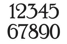 Number STENCIL 4 Poor Richard Font Numbers 0-9 by OaklandStencil