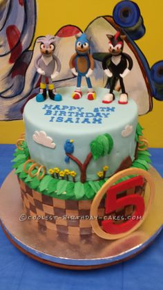 Coolest Sonic, Silver and Shadow the Hedgehogs Birthday Cake... This website is the Pinterest of birthday cake ideas