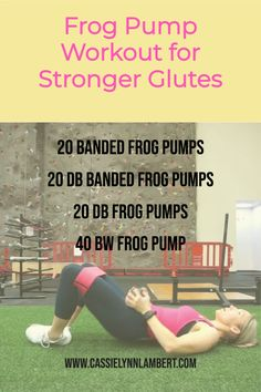If you're looking to build stronger glutes, this frog pump workout is a killer! Frog pumps not only help you build strength but specifically target your booty area. Weight Lifting Tips, Weight Training, Gain Muscle, Build Muscle, You Fitness, Fitness Tips, Good Fats, Muscle Building, Workout Ideas