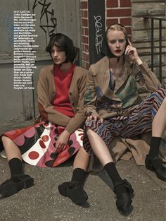 girls: ali arboux, anastasija titko and edythe hughes by hong jang hyun for glamour germany october 2014