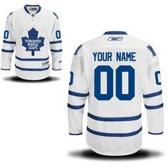 Reebok Toronto Maple Leafs Men's Premier Away Custom Jersey - White