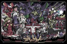 Neon Genesis Evangelion Illustration by Alexander Iaccarino, via Behance