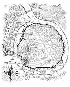Map of the Castle from Septimus Heap