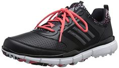 adidas Women's W Adistar Sport Golf Spikeless, Core Black/DGH Solid Grey/Sunset Coral-TMAG, 7.5 M US * Visit the image link more details.
