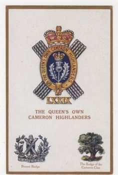 The-Queens-Own-Cameron-Highlanders-G-P-1627-Postcard-B284