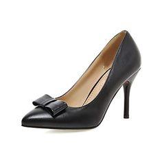 Women's Heels Spring Summer Fall Comfort PU Wedding Dress Party & Evening Stiletto Heel Bowknot White Black Red Blushing Pink 5406408 2017 – $45.75