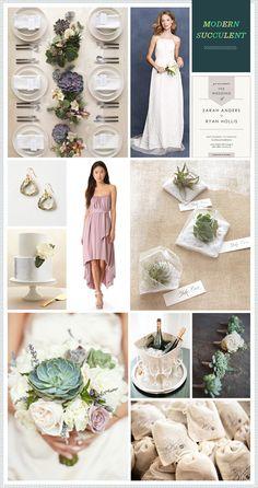 Modern Succulent Wedding Inspiration
