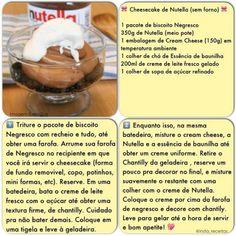 Cheesecake de Nutella (sem forno)