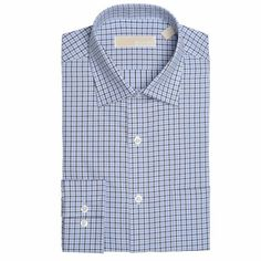 Michael Kors Non-Iron Dress Sea Spray Slim Fit Dress Shirt 17-1/2 (36-37) #MichaelKors