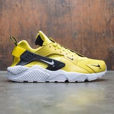 buy popular 327dd 0d704 Nike Men Air Huarache Run Premium Zip (bright citron   white-black)