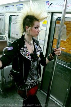 This is a real punk rock girl