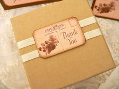 Wedding Table Number Place Card Favor Tag Sample Pack Sepia Roses Postcard