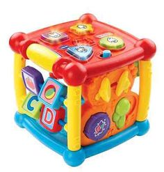 VTech Busy Learners Activity Cube - http://baby.goshoppins.com/toys/vtech-busy-learners-activity-cube/