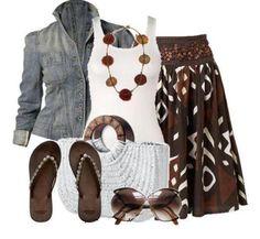 bohemian tribal maxi skirt