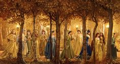 The twelve princesses...leaving their secret dance