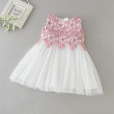 Baby Dresses for Girls Birthday Wedding Pink Lace Flower Bebes Princess Dress Baptism Gown Infant Girls 1 Year Vestido Infantil Baby Girl White Dress, Baby Girl Birthday Dress, Baby Girl Party Dresses, Birthday Dresses, Little Girl Dresses, Girls Dresses, Baby Frocks Party Wear, Baby Princess Dress, Baby Summer Dresses