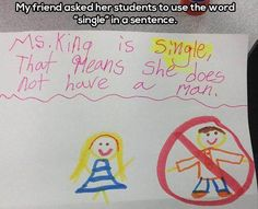 Haha! Ms. King is single, that means she does not have a man.