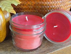 SOY WAX CANDLE--Spiced Cranberry--4oz--Hand Poured-Jelly Jar by YUMMYPLEASURES, $6.25 USD