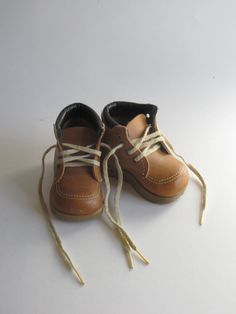 Vintage Baby Shoes - Baby Work Boots - Baby Walkers - Sturdy Steppers. $19.98, via Etsy.