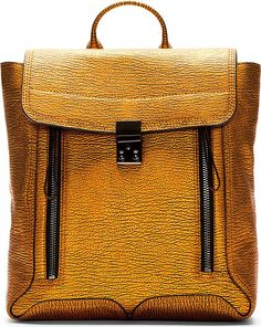 3.1 Phillip Lim Copper Textured Leather Pashli Backpack