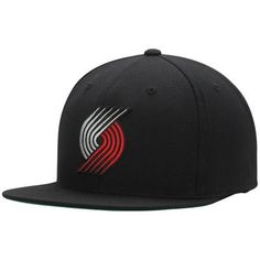 Portland Trail Blazers Mitchell  amp  Ness Current Logo Wool Solid Snapback  Adjustable Hat - Black 620cc3bb7e78