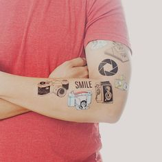 Photography Tattoo Set