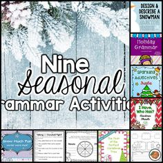 9th Day of Winter: 9 Grammar Activities {FREEBIES} by The Primary Peach