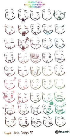 A reference on drawing chibi faces :3 - Funny