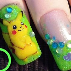 Nail Art Pokemon Picachu 3D Tutorial