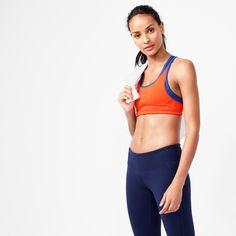 e89fd63ec65a4 New Balance For J.Crew Colorblock Sports Bra (Size L) Women s Activewear