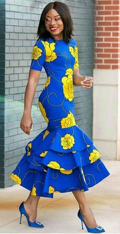 African print midi dress -Ankara dress-Midi dress- dress-Ankara dress with peplum details -African clothing -women clothing.Mermaid dress - - African print midi dress -Ankara dress-Midi dress- dress-Ankara dress with peplum details -African c Source by Latest African Fashion Dresses, African Print Dresses, African Print Fashion, Africa Fashion, African Prints, African Clothes, Ankara Fashion, Fashion Outfits, Maxi Dresses