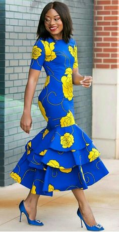 African print midi dress -Ankara dress-Midi dress- dress-Ankara dress with peplum details -African clothing -women clothing.Mermaid dress - - African print midi dress -Ankara dress-Midi dress- dress-Ankara dress with peplum details -African c Source by African Fashion Designers, Latest African Fashion Dresses, African Print Dresses, African Print Fashion, Africa Fashion, Ankara Dress Styles, African Clothes, African Prints, Ankara Gowns