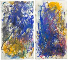 Joan Mitchell, Untitled, 1986. Pastel and watercolor on paper.