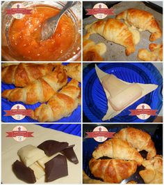 Sweet and savory filled croissants in three flavors - Making delicious croissants at home / glykesdiadromes.wordpress.com Croissants, Wordpress, Bread, Sweet, Food, Candy, Crescents, Brot, Essen