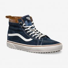 Shop for denim shoes, popular shoe styles, clothing, accessories, and much  more! Vans that are snow boots! Vans Chaussures Sk8-Hi MTE (MTE) Dress Blues