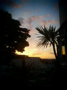 Sunset at the top of Hanover, Brighton