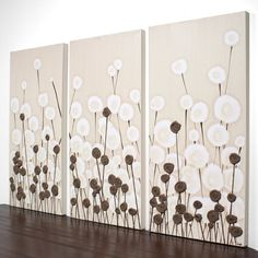 Abstract Flower Painting Modern Art Textured by Amborela on Etsy, $145.00