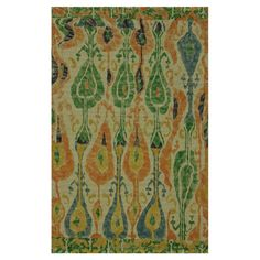 Anchor your living room or define areas in the den with this lovely woven jute rug, showcasing a multicolor ikat motif.   Product: R...
