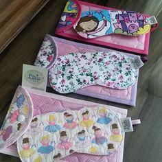 Máscaras e bolsinhas para escova e creme dental, para uma festa do pijama muito muito especial. ...