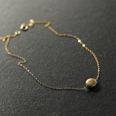 Dahlia minimal 14k gold vermeil necklace delicate gold
