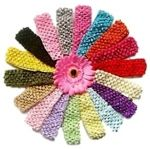 Make your own baby headbands.  We carry all the supplies needed to make your own flower baby headbands and flower hair bows.  We also have video tutorials on how to make flower hair accessories and more. $0.85 each Buy headbands at:  www.boutiquesupplyco.com