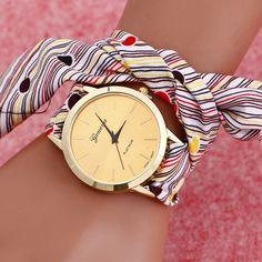 Women Wrist Watch, Grosgrain Ribbon, with zinc alloy dial & Glass.