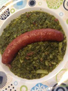 Grünkohl Eintopf mit Mettwürstchen