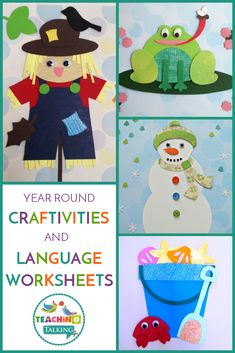 Keep your students focused on their language goals while having a blast with this speech and language crafts and worksheets value bundle. Speech Therapy Activities, Speech Language Therapy, Language Activities, Speech And Language, Craft Activities, Speech Pathology, School Fun, School Stuff, Classroom Themes