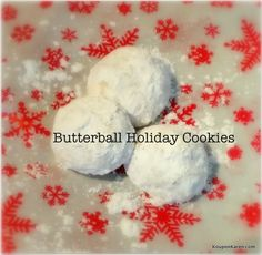 I've been busy baking away for the holidays and if you recall last year I told you that I love to bake cookies and bring trays to my friends. Our favorite is my mom's Butterball Cookie Recipe! Egg Recipes, Baking Recipes, Cookie Recipes, Holiday Baking, Christmas Baking, Christmas Desserts, Christmas Treats, Butter Ball Cookies Recipe, Shortbread Recipes