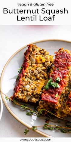 Guys, today I could not be more excited about this Butternut Squash Lentil Loaf. It is hearty, flavorful, cozy, packed with Fall flavor, and delicious with a capital D. Naturally vegan and easily made gluten free!